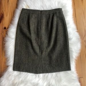 J. Crew Skirts - J. Crew Wool Pencil Skirt Green Size 2